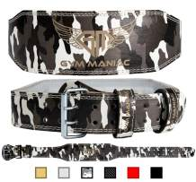 Gym Maniac GM Weight Lifting Waist Gym Belt   Adjustable Size, 2 Prong Buckle, Comfy Suede, Reinforced Stitching   Support Your Back & Alleviate Pains