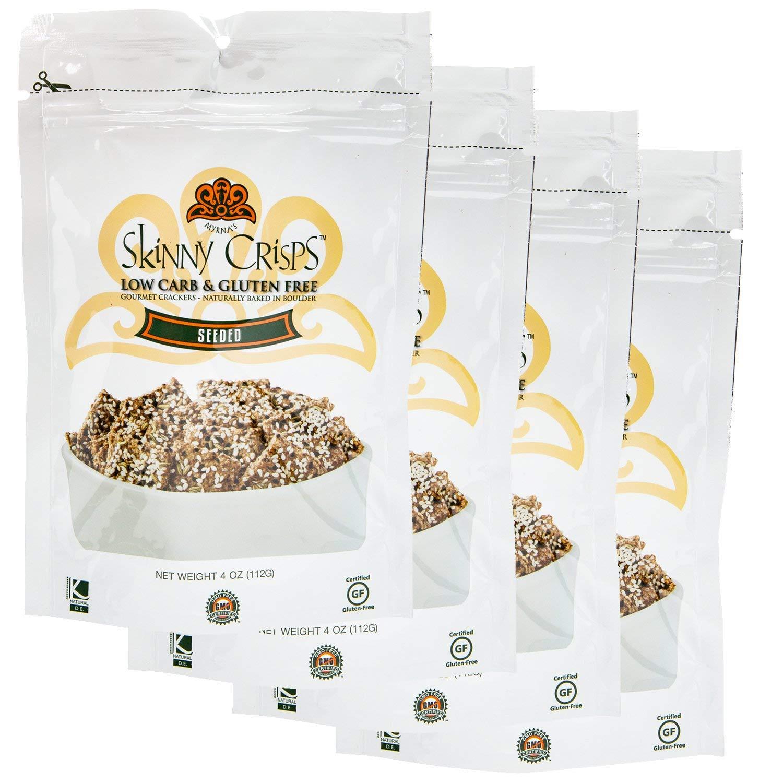 Skinny Crisps Seeded Gluten Free Crackers (Pack of 4)