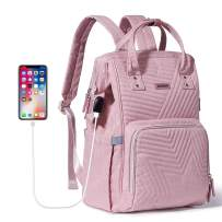 SUNVENO Diaper Bag Backpack, Large Capacity Maternity Travel Bags, Pink