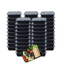 HOMEE Meal Prep Containers 50 Pack/ 26 oz Reusable Food Storage Containers Bento Lunch Box with Lids Made of Plastic, Stackable, Microwavable, Freezer and Dishwasher Safe Use