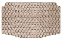 Intro-Tech FO-519-RT-T Hexomat Cargo Area Custom Fit Floor Mat for Select Ford Escape Models w/Bench Up - Rubber-Like Compound, Medium, Tan
