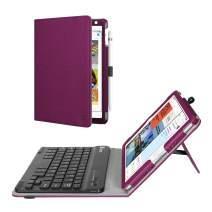 Fintie Keyboard Case for Mini 5th Gen 2019 / iPad Mini 4 - [Corner Protection] PU Leather Folio Stand Cover w/Pencil Holder, Removable Wireless Bluetooth Keyboard for iPad Mini 5 / Mini 4, Purple