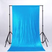 ShiDianYi 6FTX6FT- Turquoise Sequin Backdrop- Sequin Photo Background,Photo Booth Backdrop,Sequence Backdrop for Wedding (Turquoise)