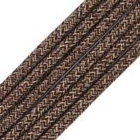 32.8ft Fabric Cloth Covered Round Wire,PRUNLLA Vintage 18/2 Industrial Electrical Lamp Cord, 18-Gauge Antique Style for Retro Lamp, DIY Projects (Brown and Dark grey)