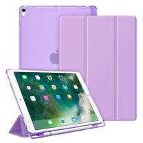 """Fintie Case for iPad Air 10.5"""" (3rd Gen) 2019 / iPad Pro 10.5"""" 2017- Lightweight Slim Shell Standing Cover with Translucent Frosted Back Cover with Pencil Holder, Auto Wake/Sleep, Purple"""