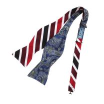Epoint Men's Fashion Multicolored Bow Ties Silk Self-tied Double Sided Bow Tie