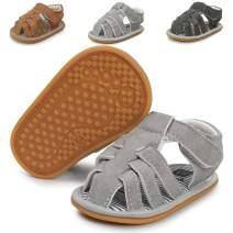 COSANKIM Infant Baby Boys Girls Summer Sandals Non Slip Soft Sole Toddler First Walker Crib Shoes(0-18 Months)