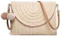 Women's Hand Wrist Straw Clutch Bag Bohemian Summer Beach Sea Purse and Handbag