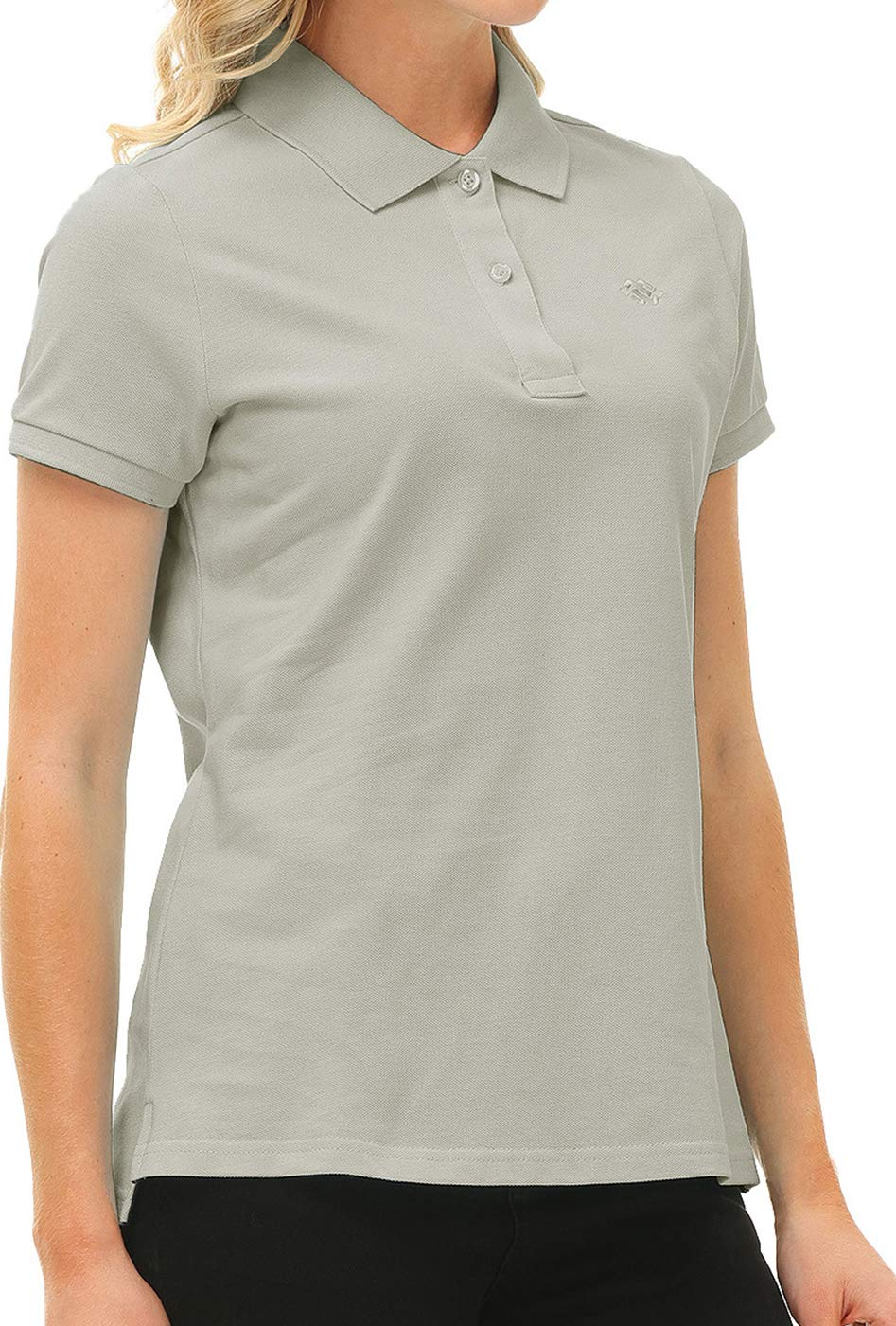 Golf Polo Shirts for Women Short Sleeve Athletic Shirts Dry Fit Lady Golf Tops for Tennis
