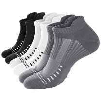 Ankle Athletic Running Socks for Men & Women [6 Pairs] - Low Cut Sports Socks for Hiking, Workout, Long Walks