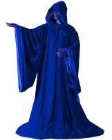 LuckyMjmy Velvet Wizard Robe Halloween Cloak Fancy Cosplay Costume