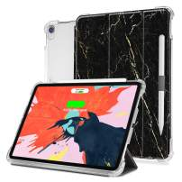iPad Pro 11 Case, Valkit iPadPro11 Inch 2018Cover, Folio Stand Protective Case for iPad Pro 11 Inch with Auto Sleep/Wake & Apple Pencil Holder,Support Wireless Charging, Black Marble