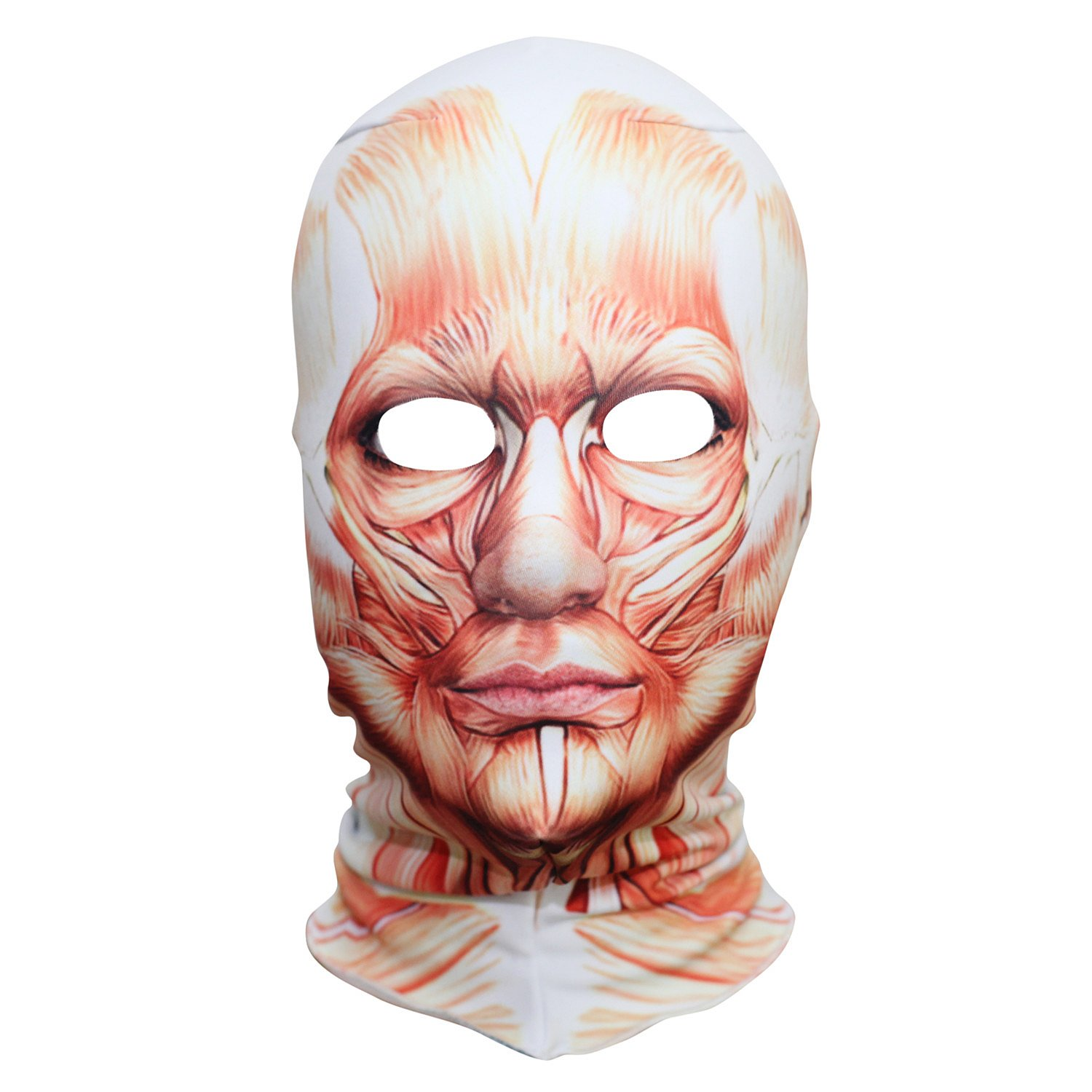 AXBXCX Polyester Fleece Costume Skin Masks Halloween Party Full Cover Hood Mask
