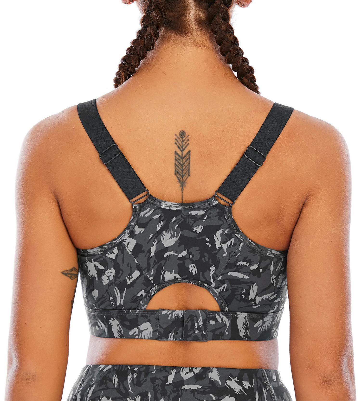 Fancyskin Sports Bras for Women Padded Back Strappy Yoga Bra Stretchy Cozy Crop Top