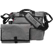 Messenger-Style Diaper Tote | Velvet Lined w/Stroller Straps | Free Changing Pad