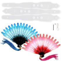 Funshowcase Fancy Fan Resin Casting Mold 8inch Life Size Stick with Thread and Nail Set