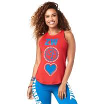 Zumba Womens Women's High Neck Workout Fashion Design Tank Top