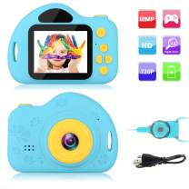GKTZ Kids Camera Small Camcorder Digital Cameras with 2 inch Screen for Children ,Ideal Gift Toys for 3-8 Year Old Boys Girls - Blue