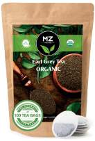 Organic Earl Grey Tea | 100 Large Tea Bags Premium Black Tea Blend Breakfast Tea Organic | Eco-Friendly Organic Tea Bags Net Weight 200g | MZ Venture