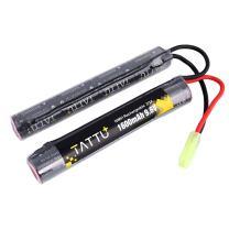 Tattu 9.6V NiMH Battery 1600mAh Butterfly Nunchuck Stick Rechargeable Battery Pack with Tamiya Connector for Airsoft Gun ICS CA TM SRC JG G36 G&M733