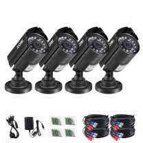 ZOSI 4PK 1920TVL 1080P Security Camera 3.6mm Lens 24 IR-LEDs 2.0MPCCTV Camera Home Security Day/Night Waterproof Camera for 720P / 1080N / 1080P/5MP/4K Analog DVR Systems