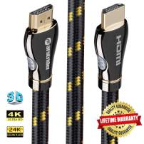 4K HDMI Cable/HDMI Cord 15ft - Ultra HD 4K Ready HDMI 2.0 (4K@60Hz 4:4:4) - High Speed 18Gbps - 28AWG Braided Cord-Ethernet / 3D / ARC/CEC/HDCP 2.2 / CL3 - Xbox PS4 PC HDTV by Farstrider