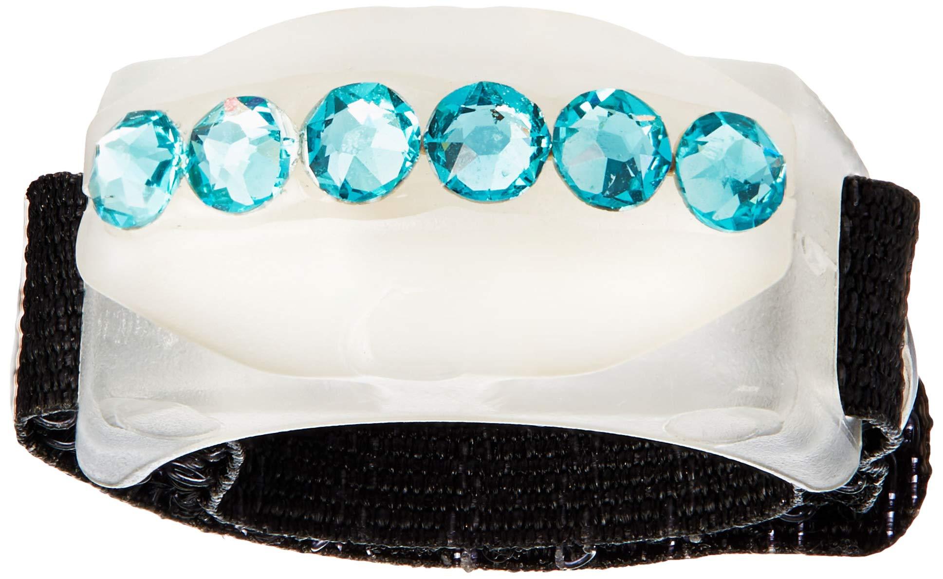 Thread Cutterz Ring Glow-in-The-Dark w/Single Row Swarovski Crystals - A Ring That cuts Thread, Yarn & Embroidery Floss