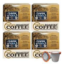 Fresh Roasted Coffee LLC, Dark Nebula Coffee Pods, Medium Roast, Artisan Blend, Capsules Compatible with 1.0 & 2.0 Single-Serve Brewers, 72 Count