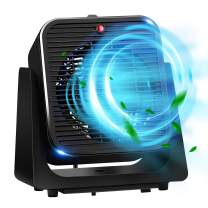 Portable Air Circulator Fan for Office - Personal Compact Quiet Table Desktop Heater Fan Combo w/ Circulating & Heating Modes 45° Adjustable Angles, for Small Home Bedroom Indoor use
