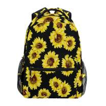 ZZKKO Sunflower Summer Computer Backpacks Book Bag Travel Hiking Camping Daypack