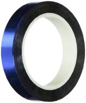 """TapeCase 5-72-MPFT-BLUE Blue Metalized Polyester/Acrylic Adhesive Film Tape, 0.002"""" Thick, 72 yd. Length, 5"""" Width, 1 Roll"""