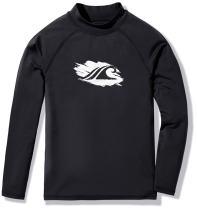 TSLA Boys UPF 50+ Rash Guard Long Sleeve, UV Sun Protection Water Swim Shirts, Surf Swimwear Swimsuit Top
