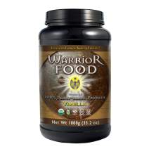 HealthForce SuperFoods Warrior Food - 1000 Grams, Vanilla Flavor - All Natural Plant Based Protein Powder - Organic, Non GMO, Vegan, Gluten Free - 50 Servings