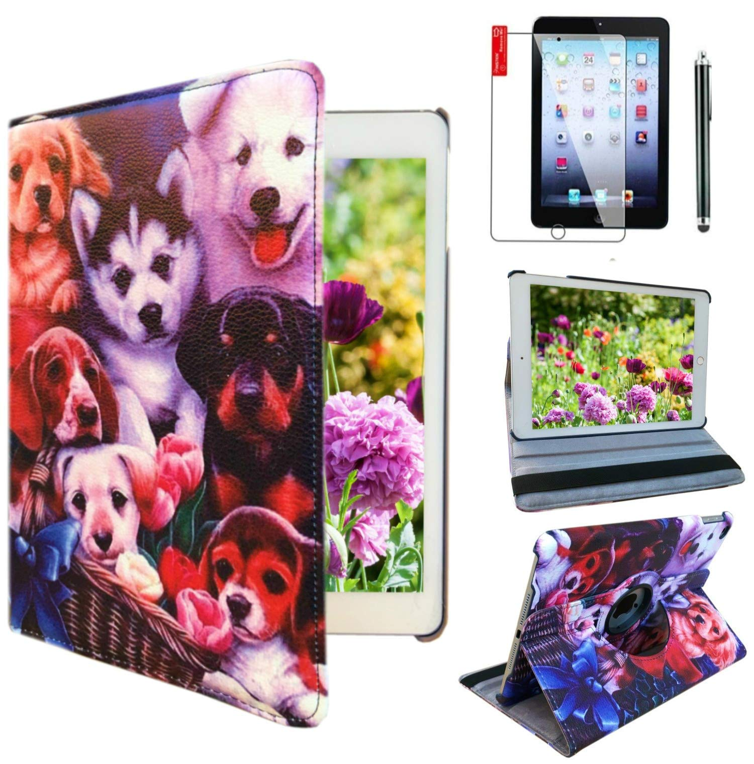 Ipad Case for Apple ipad Mini 1st, 2nd, 3rd Generation Model : A1432, A1454, A1455, A1489, A1490, A1491, A1599, A1600 or A1601 (Dog Design)