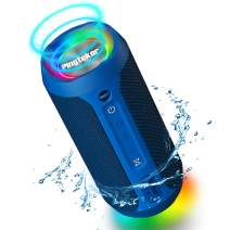 PINGTEKOR M6Pro 24W Portable Wireless Bluetooth Speaker with Party Light,TWS,Built-in Mic,Waterproof,Dustproof,360 Immersive Surround Sound and Deep Bass,Retail Packaging-Blue