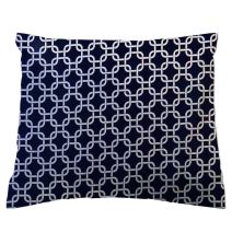 SheetWorld Crib / Toddler Percale Baby Pillow Case - Navy Links - Made In USA