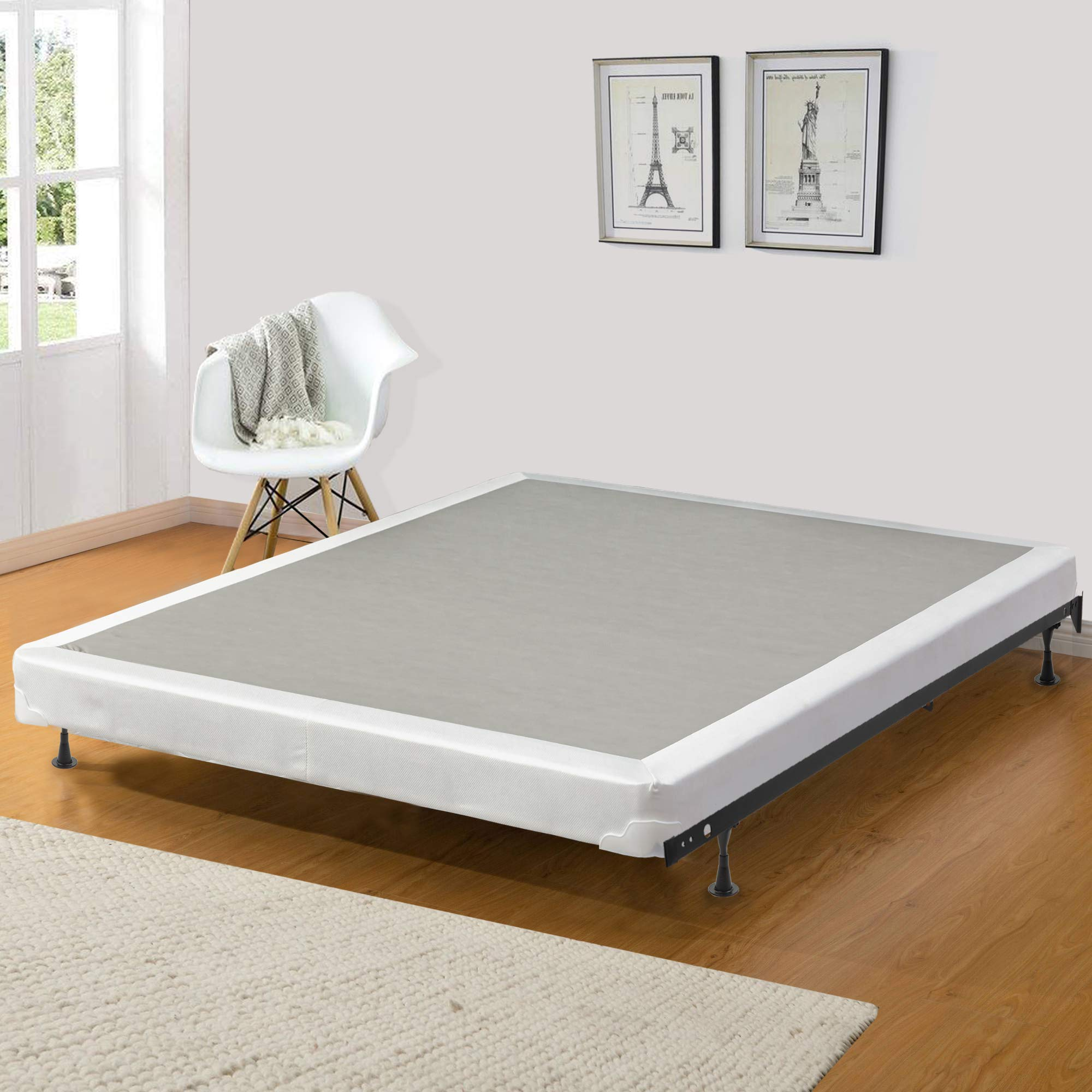 Continental Sleep Fully Assembled 4-inch Queen Box Spring For Mattress,Fifth Ave Collection