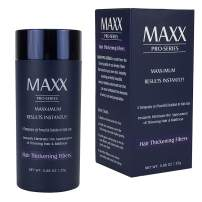 MAXX PRO-SERIES Volumizing Hair Fibers with real Keratin for Thinning Hair/Hair Loss – Dermatologist Tested and Certified Hypoallergenic - 60 days + supply - Multiple Colors Available (Medium Brown)