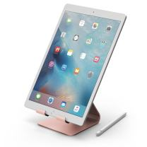 iPad Pro, elago P4 Stand - [Premium Aluminum][Cable Management][Perfect Angle] - for iPad Pro, iPad air, iPad, iPad Mini & Tablet PC (Rose Gold)