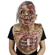 Halloween Novelty Horror Mask, Costume Party Scary Terrible Masks Dead Prop