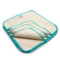 Bumkins Reusable Flannel Baby Wipes, 12 Count, Natural