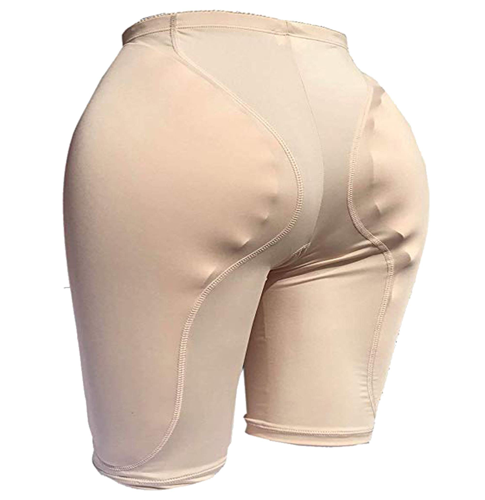 Ajusen 2PS Sponge Padded Butt Lifter Breathable Hip Enhancer Reusable for Women Men Crossdresser