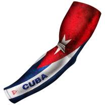 B-Driven Sports Arm Sleeve, Athletic Sports Compression USA, Mexico, Puerto Rico, Cuba, Canada | Youth, Men & Women Athletes | 1 Sleeve