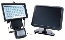 Nature Power 22050 Solar Powered Security Light with Motion Sensor and 60 Bright White LED, Black Finish