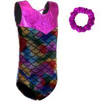BAOHULU Girls Gymnastics Leotard Sparkle Scale Fancy Shiny Dance Costumes