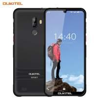 Y1000 Unlocked Android Phones Waterproof IP68 3G Smartphones 6 Inch Waterdrop Display 2GB+32GB Cell Phones Unlocked (Light Blue, IP68) (Classic Black)