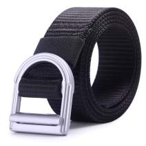 """AXBXCX Men's Tactical Belt 1.5"""" Nylon Military Style Casual Army Outdoor Tactical Webbing Metal Buckle Belt"""