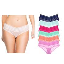 Undies.com Women's Lace Hipkini 6 Piece Underwear
