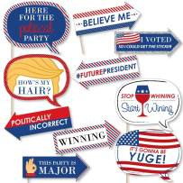 Funny Election - Political 2020 Election Party Photo Booth Props Kit - 10 Piece