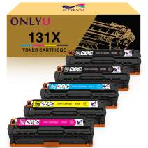 ONLYU Compatible Toner Cartridge Replacement for HP 131X CF210X 131A CF210A CF211A CF212A CF213A for HP Laserjet Pro 200 Color M251nw M251n M276n M276nw (Black Cyan Yellow Magenta, 5-Pack)